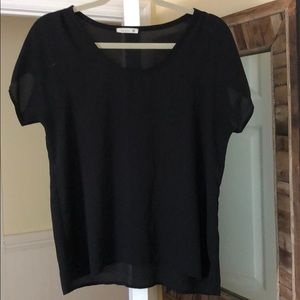 Light weight black short sleeve blouse